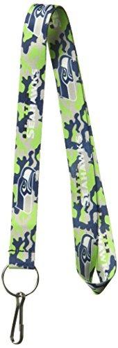 nfl seattle seahawks team color camuflaje lanyard