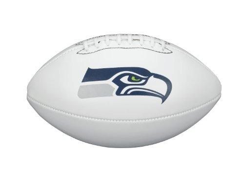 nfl seattle seahawks team logo autograph football