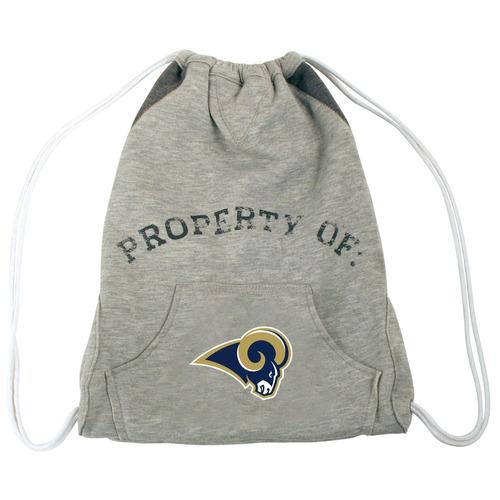 nfl st. louis rams hoodie cinch mochila, 14 x 17 pulgadas, g