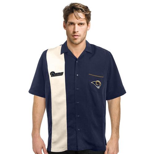 nfl strike hombres camisa de bolos para hombre, azul marino,