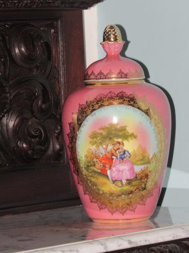 ânfora dp 541 pintura de fragonard florais em ouro 18 karat