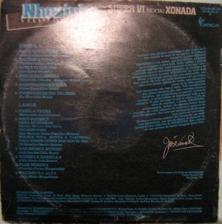 nhozinho - volume 5 - super vi sexta xonada - 1984