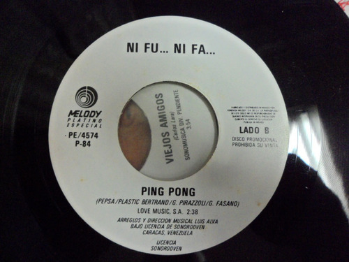 ni fu ni fa sencillo de 7 pulgadas promo ping pong ki ki ki