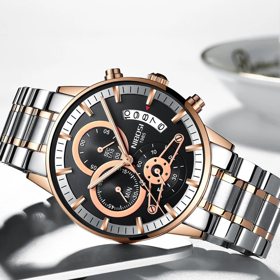 bf78d04b2b9 nibosi homens relógios top marca de luxo. Carregando zoom.