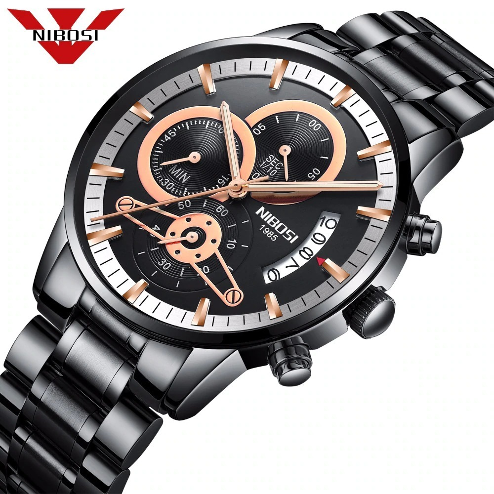 d3b0945158a nibosi relogio masculino homens relógios top marca de luxo. Carregando zoom.