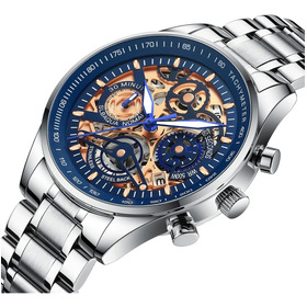 Nibosi Relojes Hombre Impermeable Fecha 2385 Azul
