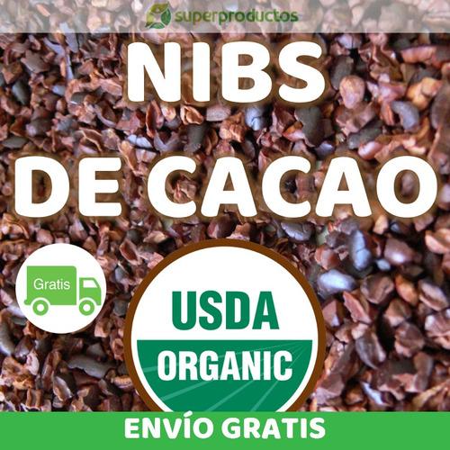 nibs de cacao - orgánico 1.2 kg ( envío gratis )