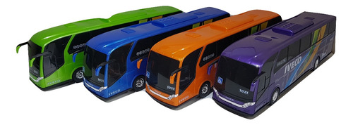 ônibus de brinquedo grande 45 cm miniatura modelo iveco