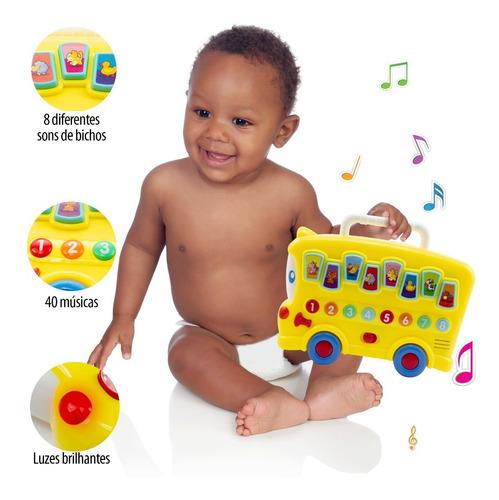 ônibus interativo de brinquedo centro de atividades musical