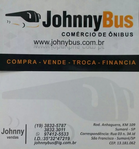 ônibus rodov. trucado paradiso g5 1150 ano 1999 johnnybus