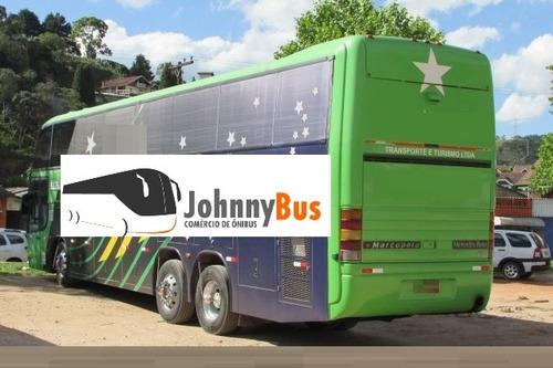 ônibus rodov. trucado paradiso g5 1450ld ano 2000 johnnybus