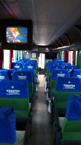 ônibus rodoviário , carroceria gv 1.000 toco, volvo b10m