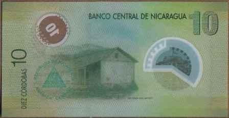 nicaragua 10 cordobas 12 sep 2007 p201a plastico