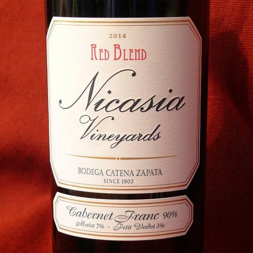 nicasia red blend cabernet franc caja 6x750ml