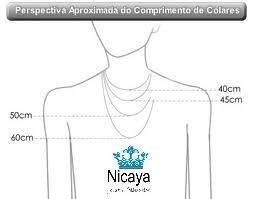 nicaya corrente + pingente cara metade sol lua ouro 18k
