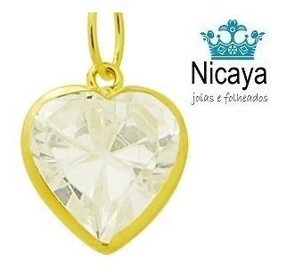 nicaya corrente veneziana + ping. coração ouro 18k + frete!