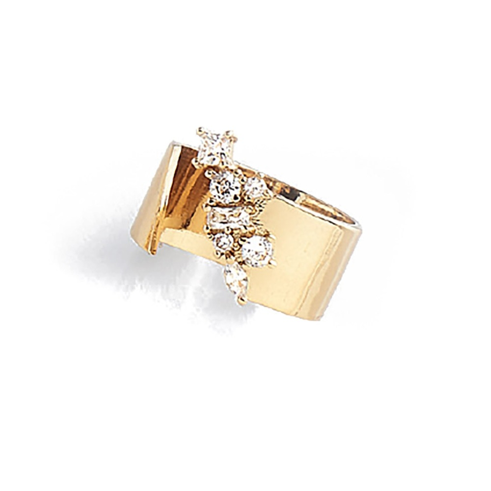 c75935e1e73a nice 118276 anillo ajustable baño oro 18 k piedras diamonice. Cargando zoom.