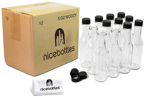 nicebottles - botellas salsa picante, 5 oz - 12 paquete
