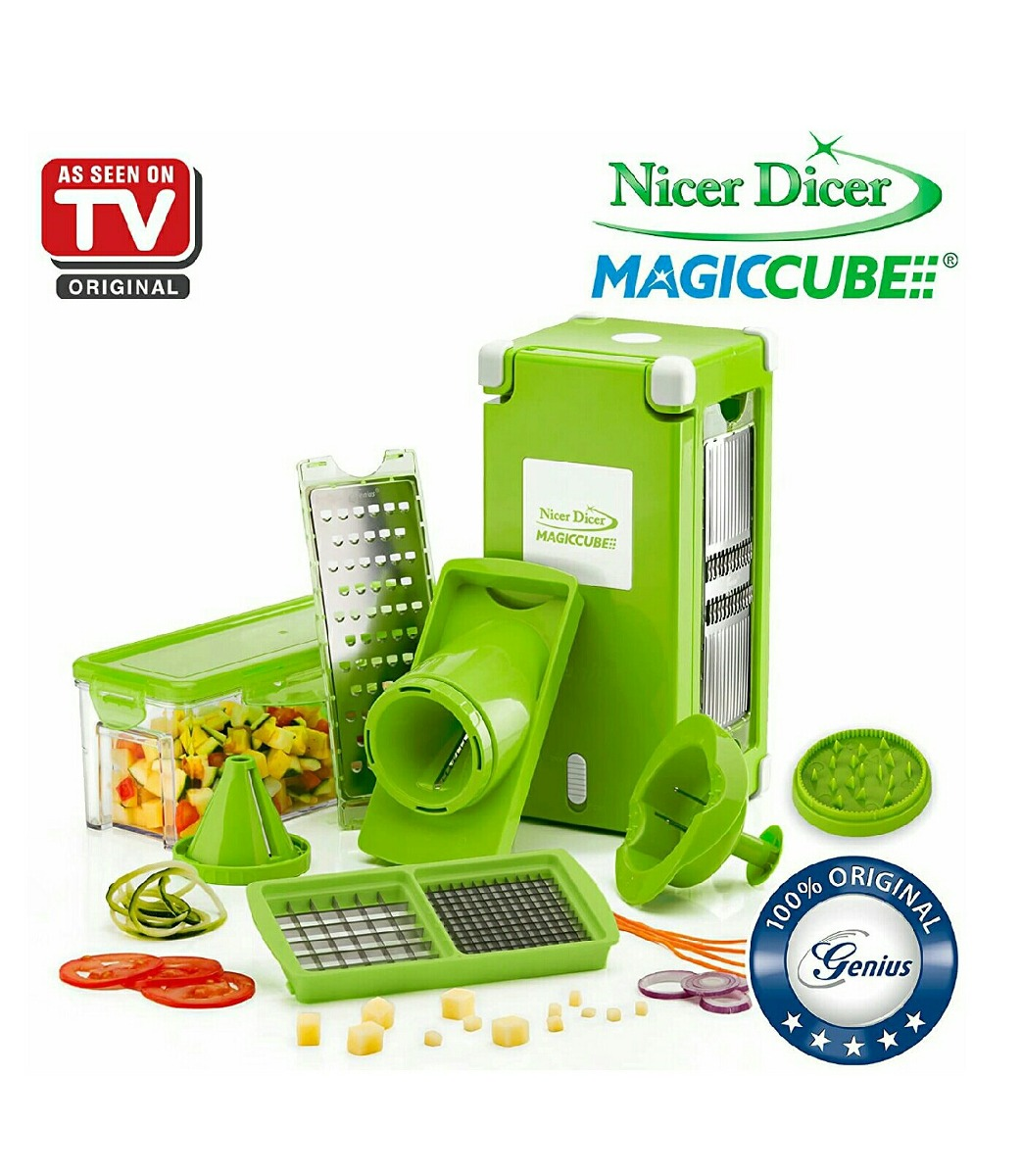 nicer dicer magic cube genius con 12 accesorios envio gratis 1 en mercado libre. Black Bedroom Furniture Sets. Home Design Ideas