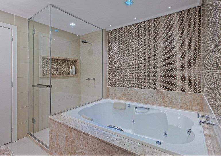 Nicho Banheiro Brasilia : Nicho banheiro em m?rmore travertino s fundo c borda