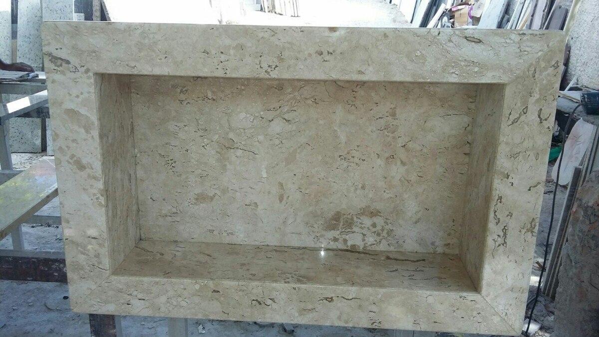 Nicho Banheiro Granito  R$ 120,00 em Mercado Livre -> Nicho De Banheiro Em Granito