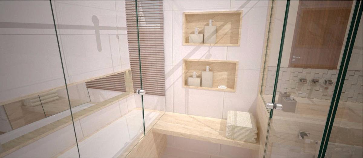 Nicho Banheiro Brasilia : Nicho banheiro marmore travertino c fundo s borda