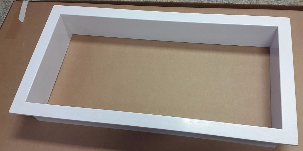 Nicho Branco Absoluto 30x30cm (igual Silestone Zeus)  R$ 495,00 em Mercado L -> Nicho Banheiro Silestone
