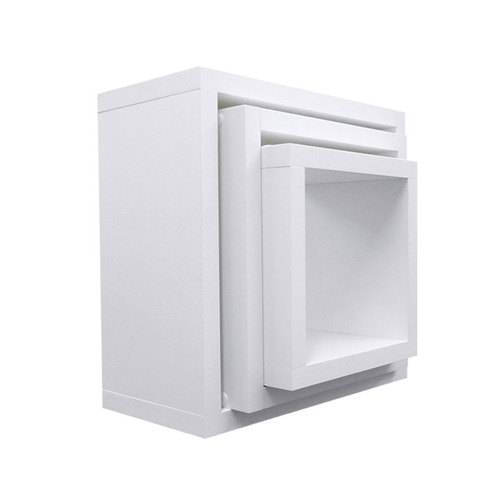 nicho cubo kit com 3 peças branco 30/25/20 100% mdf 15mm