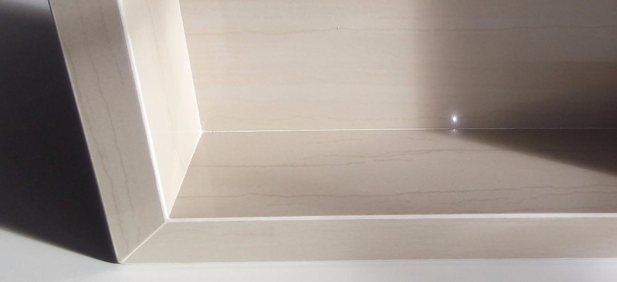 Nicho De Porcelanato Com Borda Dupla Para Banheirocozinha  R$ 300,00 em Mer -> Borda Nicho Banheiro