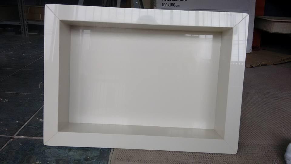Nicho De Porcelanato Off White 60x40cm Pronta Entrega!  R$ 250,00 em Mercado -> Nicho Banheiro Porcelanato