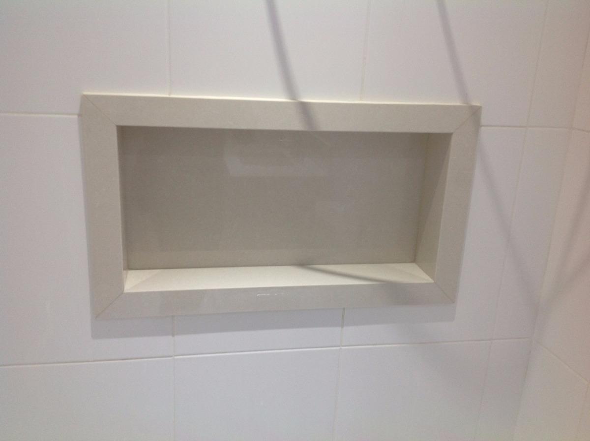 Nicho De Porcelanato Para Banheiro  R$ 350,00 em Mercado Livre -> Nicho Banheiro Porcelanato