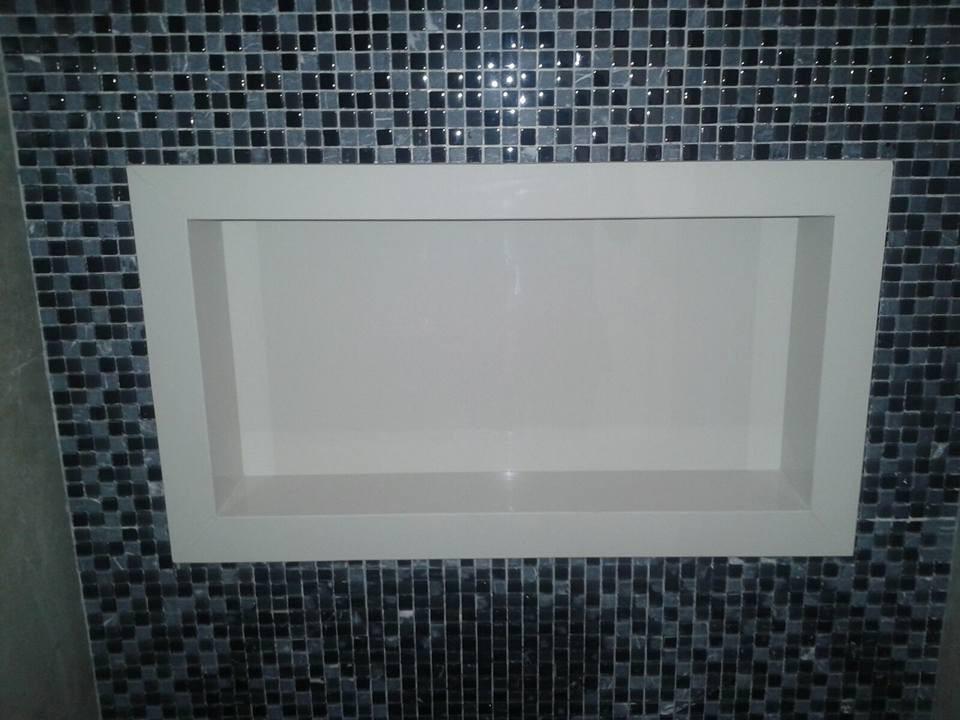 Nicho De Porcelanato Super Branco  R$ 415,00 em Mercado Livre -> Nicho Banheiro Porcelanato Preco