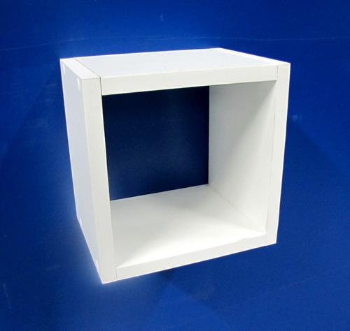 nicho decorativo branco 20x20x10 cm (mdf 15mm)