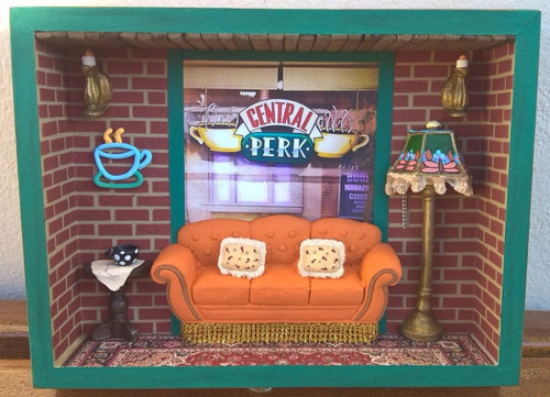 nicho decorativo do central perk (com opção porta xícaras)