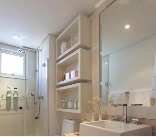 Nicho Decorativo Em Laca Para Banheiro 3 Peças  R$ 399,00 em Mercado Livre -> Nicho Banheiro Mercadolivre