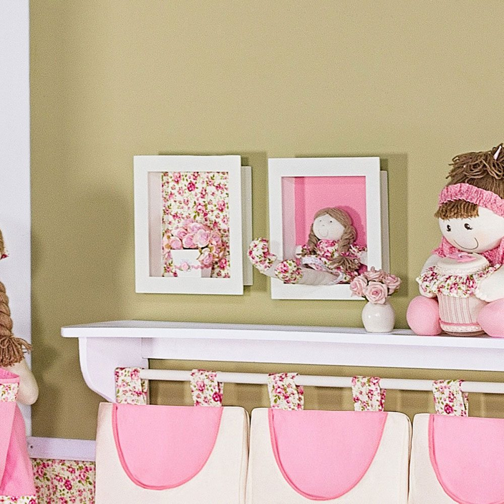 Os Nicho De Bebe ~ Nicho Decorativo Para Quarto De Beb u00ea Rosa Para Meninas R$ 122,40 em Mercado Livre