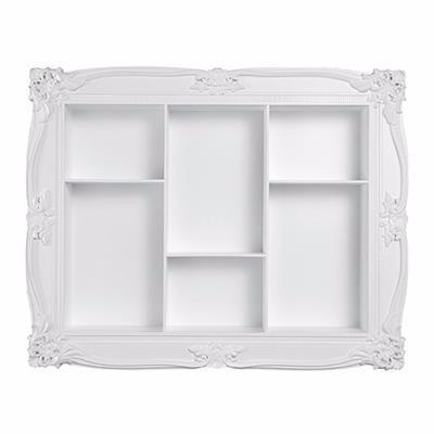 nicho decorativo parede 49x39cm vintage provençal branco