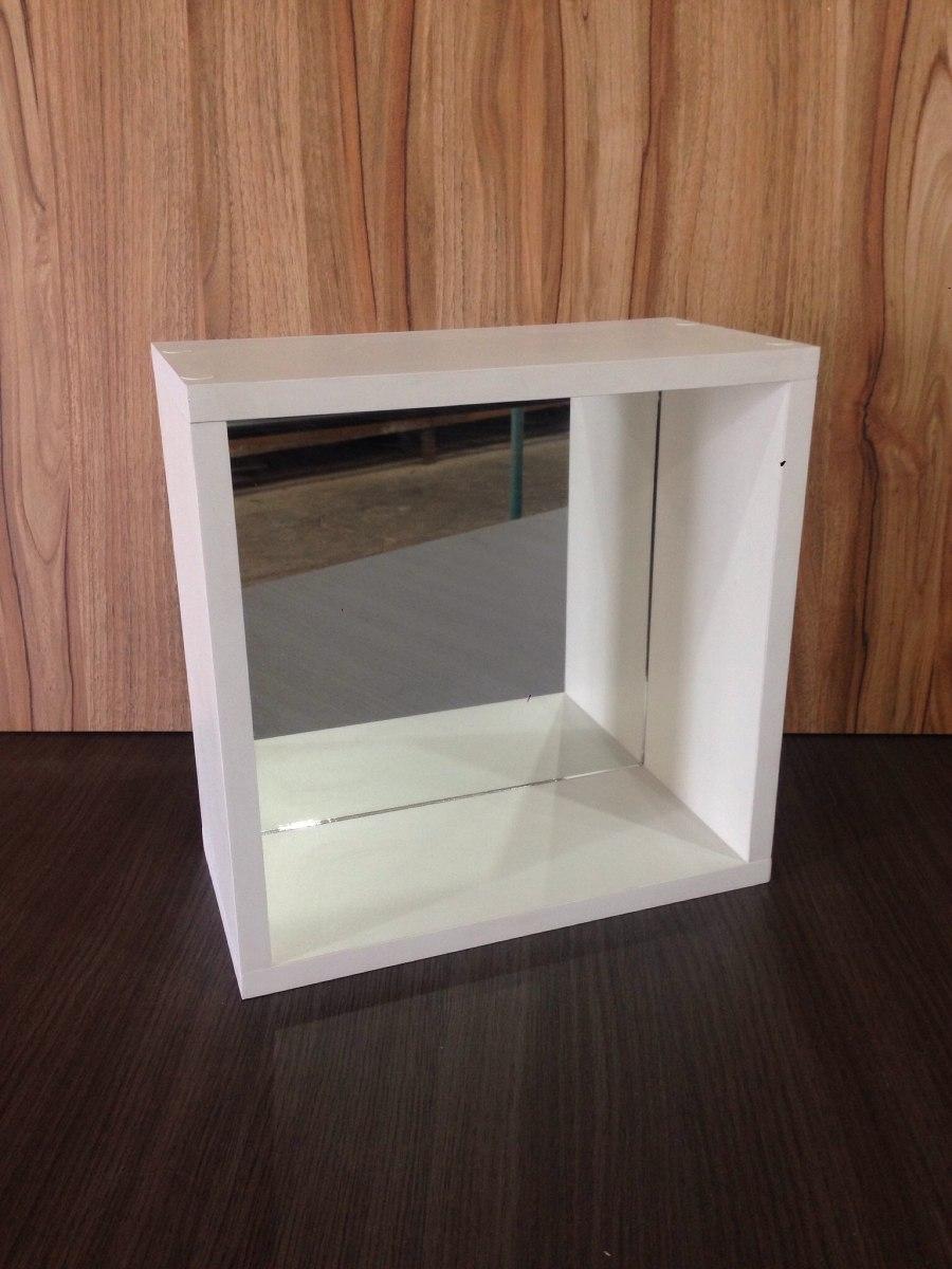 nicho em mdf branco 30 x 30 com espelho r 36 00 em mercado livre. Black Bedroom Furniture Sets. Home Design Ideas