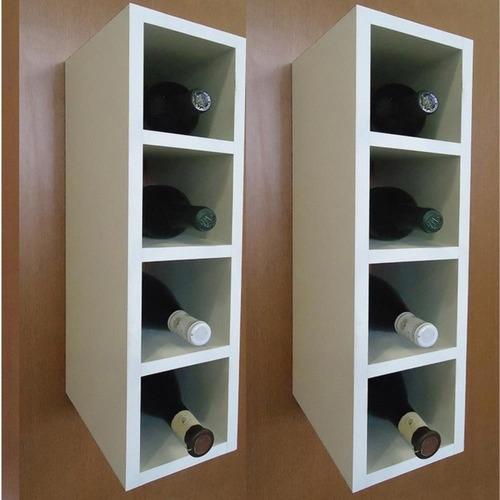 nicho garrafeiro adega 100% mdf bp porta garrafas branco