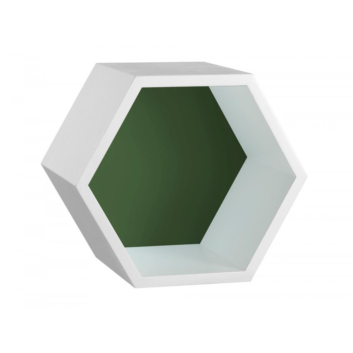 Nicho Hexagonal Mdf Favo Maxima Branco verde Musgo Hc - R  134,11 em ... 5376c082bc