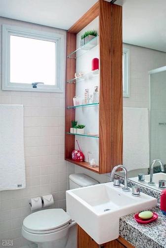 Nicho Para Banheiro Decorativo  R$ 250,00 em Mercado Livre # Nicho Vermelho Banheiro