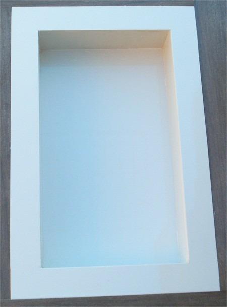 Nicho Para Banheiro Em Porcelanato  Branco Diamante  R$ 215,00 em Mercado L -> Nicho Banheiro Porcelanato