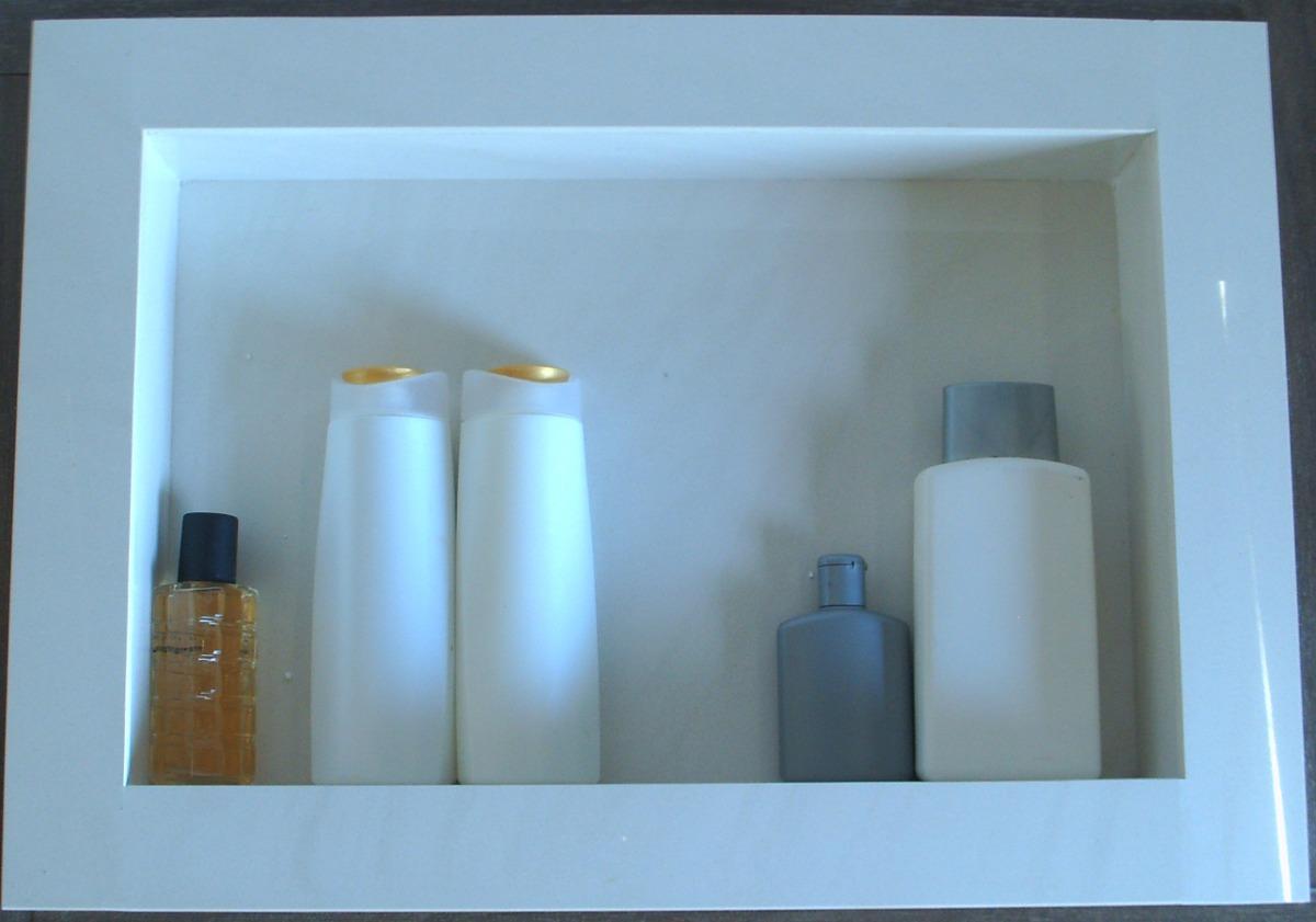 Nicho Para Box Em Porcelanato  Arthome  R$ 190,00 em Mercado Livre -> Nicho Banheiro Embutir