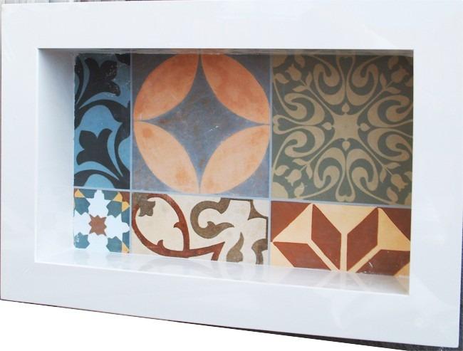 Nicho Porcelanato Banheiro Box Fundo Decorativo  R$ 220,00 em Mercado Livre -> Nicho Banheiro Embutir