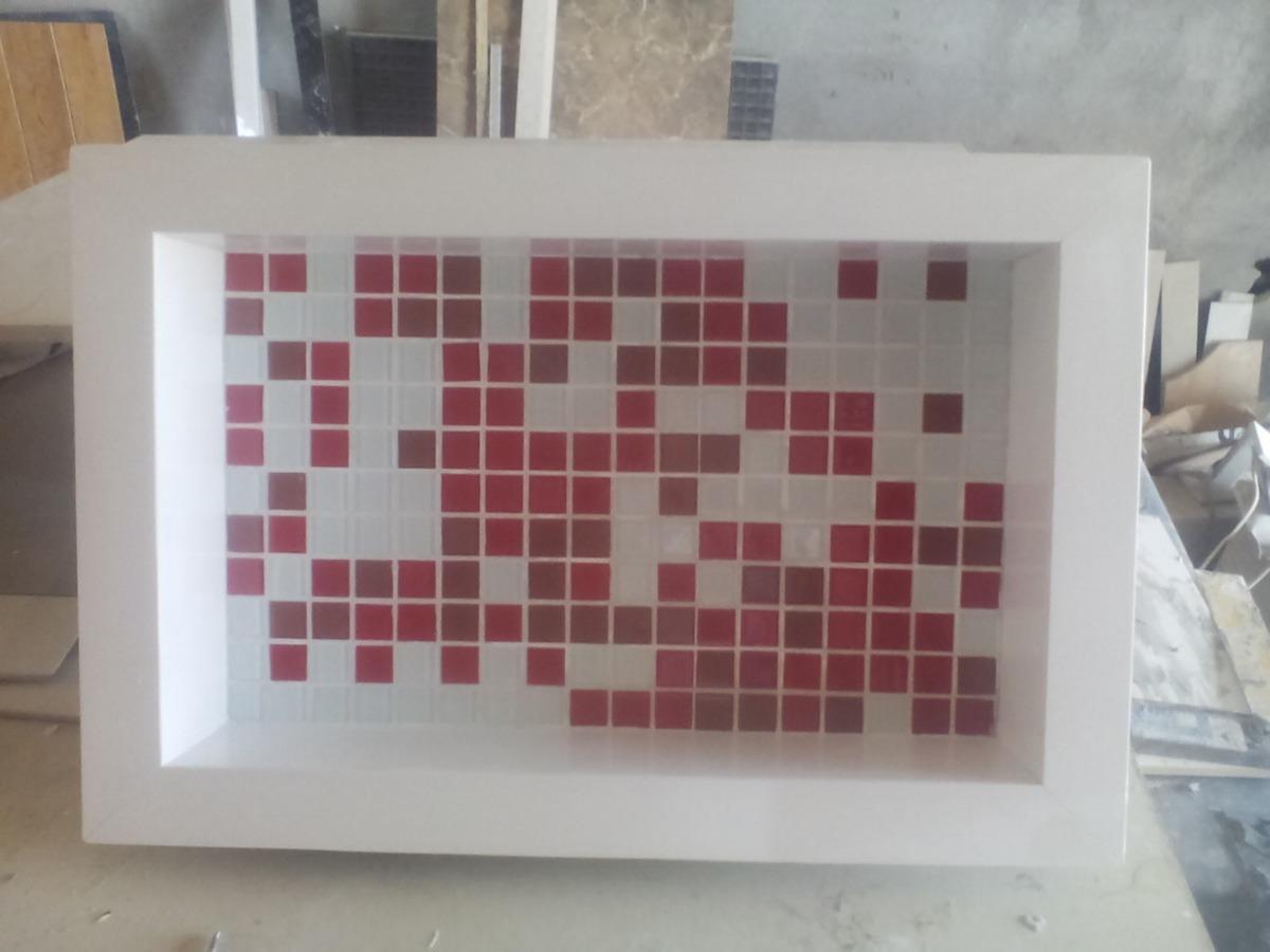 Nicho Porcelanato Banheiro Box Fundo Decorativo  R$ 220,00 em Mercado Livre -> Nicho Para Banheiro De Porcelanato