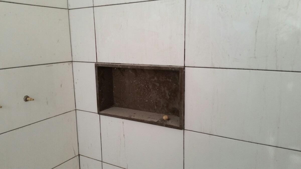 Nicho Pra Banheiro  R$ 90,00 em Mercado Liv -> Nicho Banheiro Porcelanato