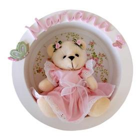 Nicho Redondo Maternidade Urso Bebê Ursinha Menino Menina