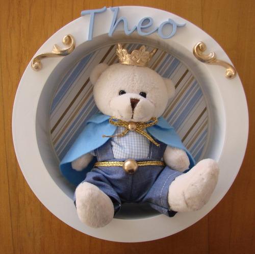 nicho rei luxo urso coroa redondo maternidade príncipe bebê