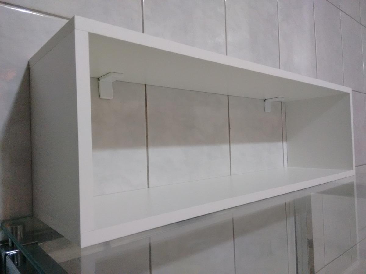 Nicho Retangular 100lx25ax25p Cm100%mdf Brancoquarto Sala  R$ 89,99 em Mer -> Nicho Retangular Banheiro