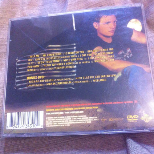 nick carter now or never special edition cd/dvd backstreet b